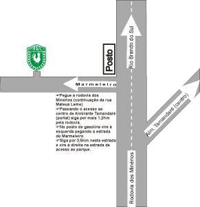 Mapa para Chegar no Parque Aquático Aguas de Valverde