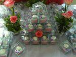 Mini bolos caixinha de vidro