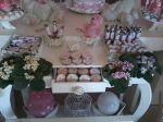 mesa decorada do chá de BB.