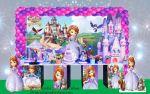 Mesa temática princesinha sofia ( cubos)