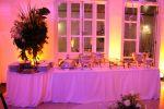 Mesa para Banquete com toalha longa