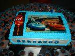 bolo carros (Torta decorada)