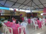 salão de festas Minie rosa