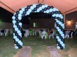 arco de  balão entrada
