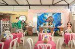 Salão de festas com decoração Moana
