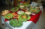Mesa de saladas para jantar