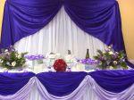 Mesa do bolo uva com lilás