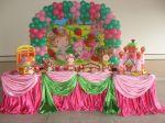 Moranguinho baby - pink, verde escuro e rosa