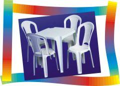 ALUGUE - KIT Mesa com 04 cadeiras