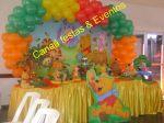 mesa temática puff  decoração 2010