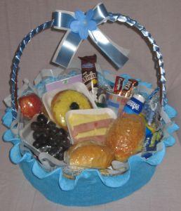 cesta grande azul