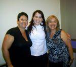 Adriana Gunther(Palestrante), Barbara M.Lube(Vitoria-ES)e Marcia Tavares Borba(Santo André)