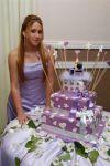 A debutante com seu bolo