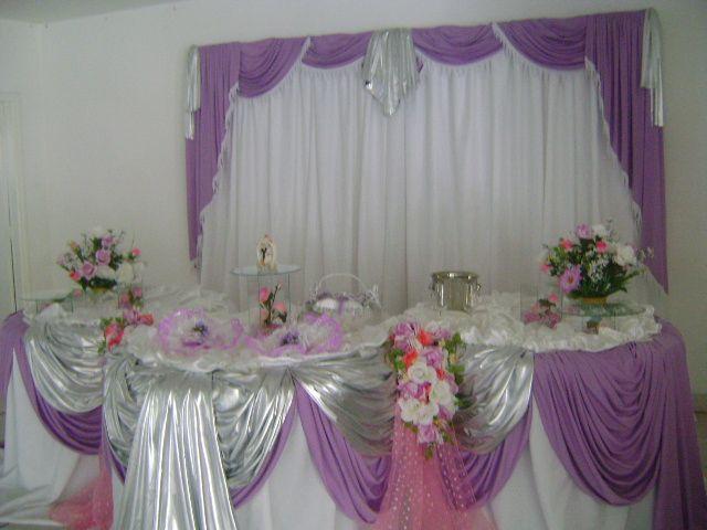 Decoração [Lilás com branco e rosa]  Claudete Decoracoes