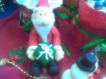 Papai Noel modelado em pasta americana