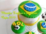 Bolo e cupcakes copa 2010