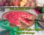 Torta de morango espelhada