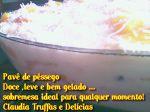 Pavê de Pêssego com creme de  champgne