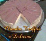 Torta de maracujá com cobertura cremosa de ganachê