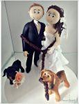 Valor R$ __________  código:286 cachorrinho puxando o casal pela corda