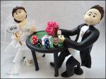 cód: 295 Michele  & Bruno , jogando poker noiva com plaquinha de all in!.