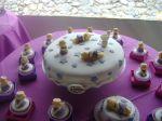 bolo de batizado lilas