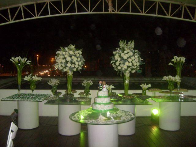 decoracao casamento verde e branco