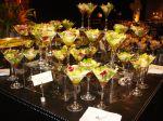 Saladas servida nas taças