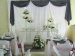Mesa decorativa do bolo de casamento em tons de azul.Doc.3-CJ