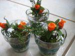 Lindos vasinhos de vidro p/ acompanhar a decoração. Doc.1-AI