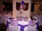 Decoração de mesas de convidados com enfeite de centro. Doc.1-J