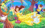 a bela e a fera painel festa infantil banner (4)