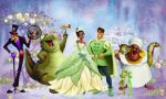 a princesa e o sapo painel festa infantil banner (1)