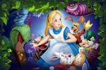 alice no país das maravilhas painel festa infantil banner (10)