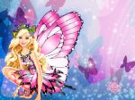 Barbie Butterfly painel festa infantil banner  (3)