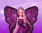Barbie Butterfly painel festa infantil banner  (2)