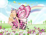 Barbie Butterfly painel festa infantil banner  (1)