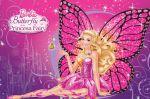 Barbie Butterfly E A Princesa Fada painel festa infantil banner (10)