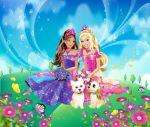 Barbie Castelo De Diamante painel festa infantil banner (3)