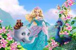 barbie princesa da ilha painel festa infantil banner (1)
