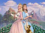 barbie princesa e a plebeia painel festa infantil banner (2)