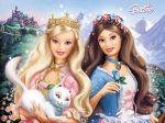 barbie princesa e a plebeia painel festa infantil banner (1)