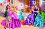 barbie escola de princesas painel festa infantil banner dkorinfest (1)