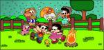 chico bento e rosinha painel festa infantil banner dkorinfest (2)