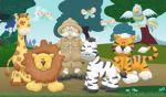 floresta safari painel festa infantil banner dkorinfest (24)