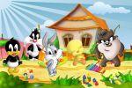 Looney Tunes Baby painel festa infantil banner dkorinfest (10)