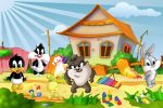 Looney Tunes Baby painel festa infantil banner dkorinfest (9)