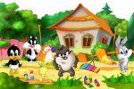 Looney Tunes Baby painel festa infantil banner dkorinfest (7)