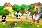 Looney Tunes Baby painel festa infantil banner dkorinfest (6)