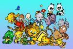 Zoo Baby painel festa infantil banner dkorinfest